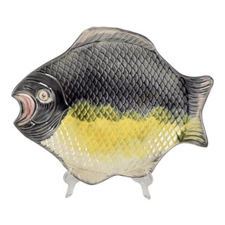 French Majolica Fish Platter