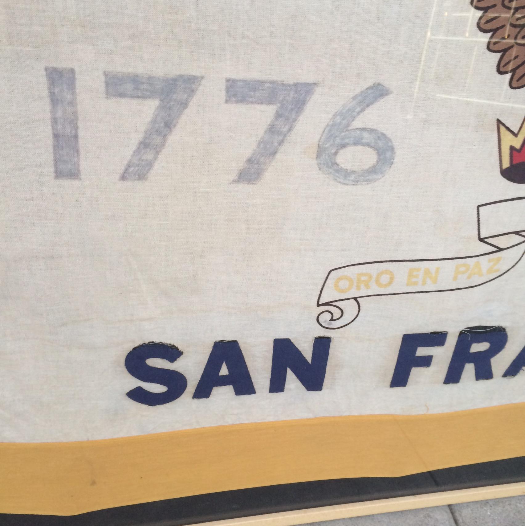 Awesome Vintage San Francisco Framed Flag   Image 5 Of 7