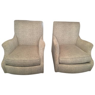 Sam Moore Club Chairs - Pair
