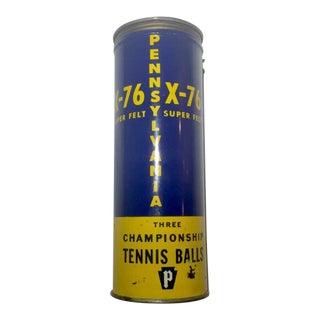 Antique Penn Metal Tennis Ball Cannister