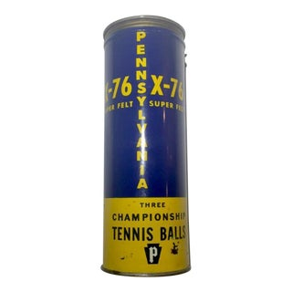 Antique Penn Metal Tennis Ball Cannister