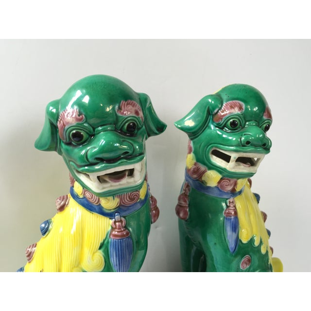 Vintage Chinese Temple Lions - Pair - Image 5 of 8