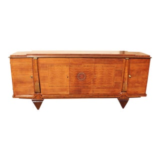 Master Piece French Art Deco Sideboard / Buffet Rosewood By Jules Leleu Circa 1940s