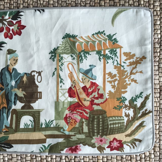 Image of Brunschwig & Fils Le Lac French Linen Pillow Cover