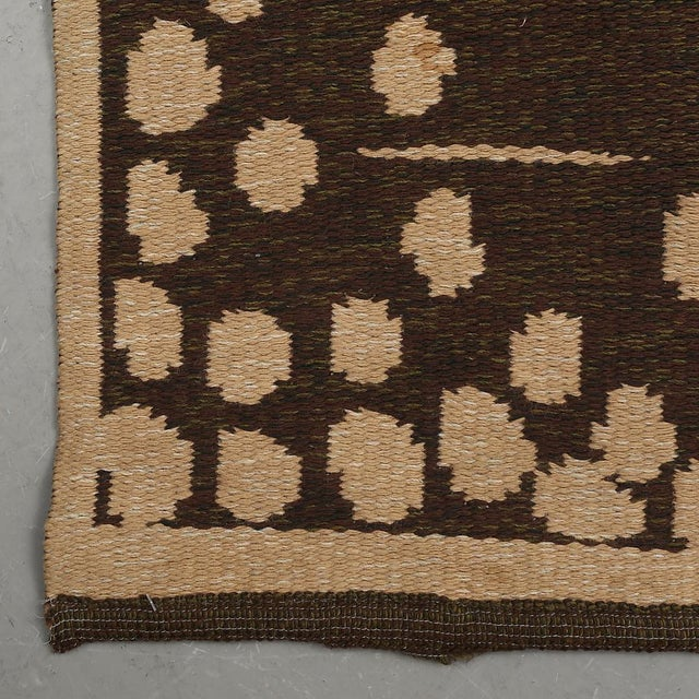 "Vintage Double Sided Swedish Rollakan Carpet - 4'1"" X 6'3"" - Image 5 of 7"
