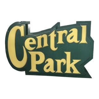 Vintage Central Park Sign
