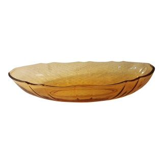 Oval Pink Glass Serving Dish