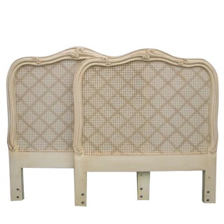French-Style Twin Cane Headboards - A Pair