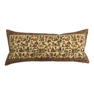Antique Persian Hand Blocked Textile Pillow