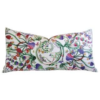 Designer Italian Gucci Floral Fanni Silk Pillow