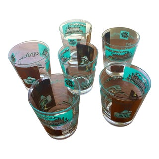 1968 Libbey Riverboat Old-Fashioned Glasses - Set of 6