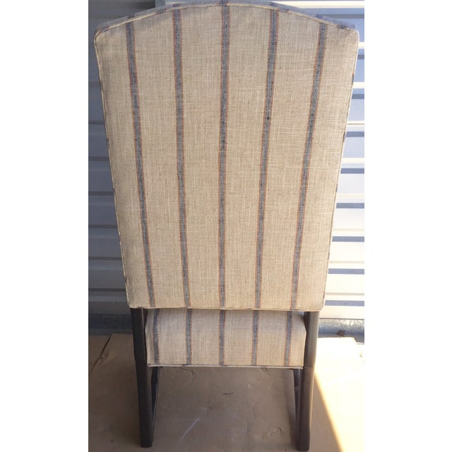 Blue & Beige Striped Accent Chair - Image 4 of 5