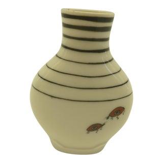 Striped Ladybug Bud Vase