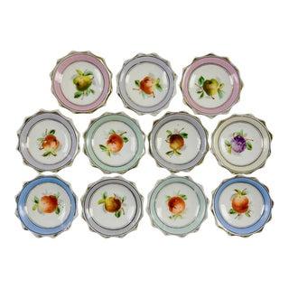 Porcelain Nut Candy Dishes Fruit Design - Set of 11