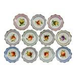 Image of Porcelain Nut Candy Dishes Fruit Design - Set of 11