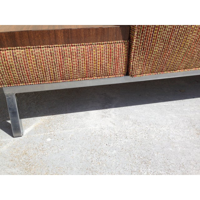 Vintage Modern Couch With Attached Side Table Chairish