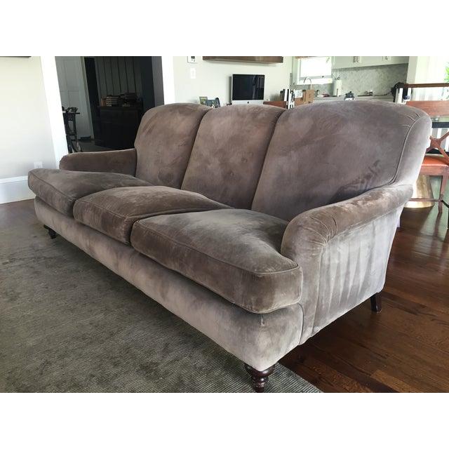Cotton Velvet Upholstered Rudin Sofa - Image 2 of 4