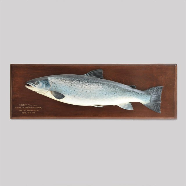 CARVED FISH PLAQUE OF A RARE SEA TROUT - Image 2 of 3