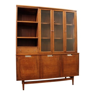 Mid-Century Danish Modern American of Martinsville Walnut China Cabinet