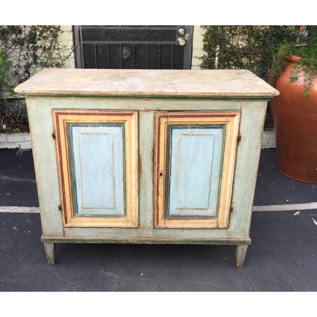 Superb Antique Paint Decorated Rustic Sideboard - Image 8 of 8