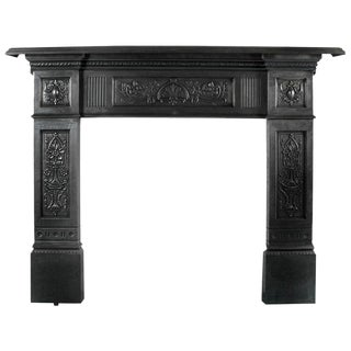 Polished Cast Iron Fireplace Surround