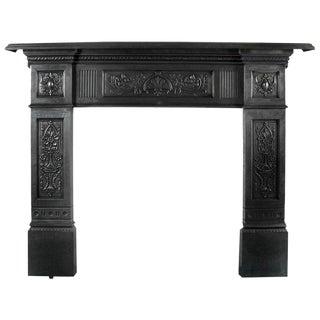 Polished Cast Iron Fireplace Surround