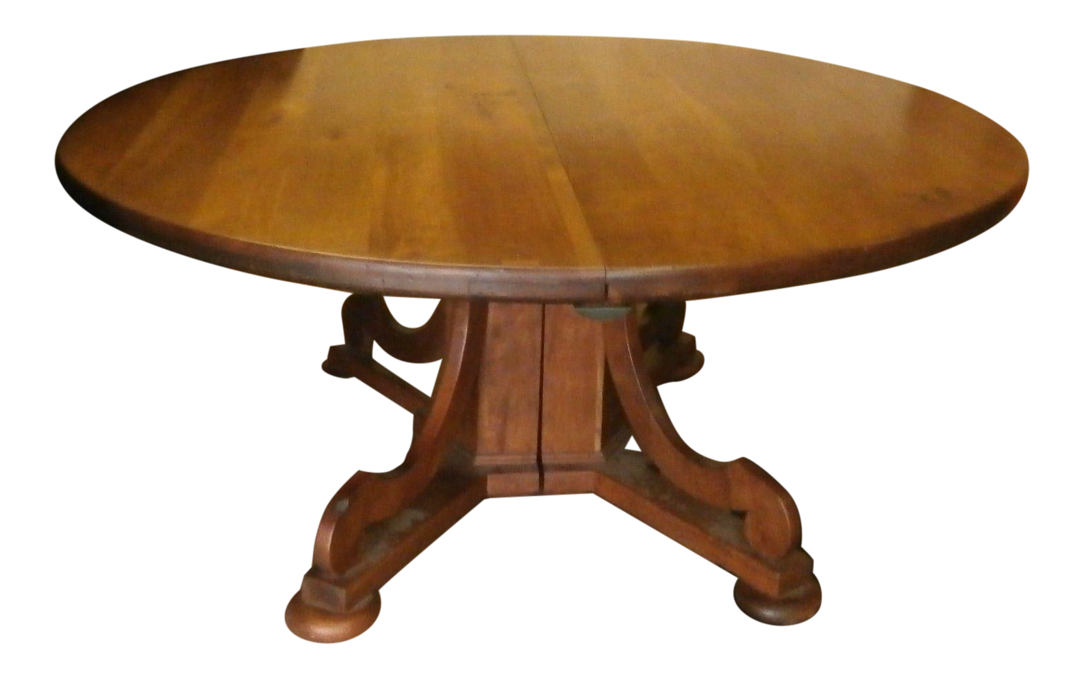 Vintage Handcrafted Cherry Farmhouse Dining Table U0026 3 Leaves