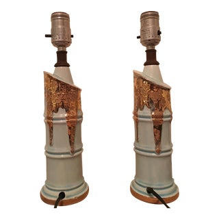 Vintage Ceramic Table Lamps - A Pair