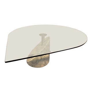 Vintage Modern Italian Marble and Glass Table