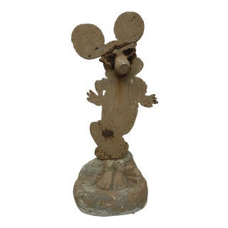 "American Folk Art Sculpture ""Dancing Mickey"""
