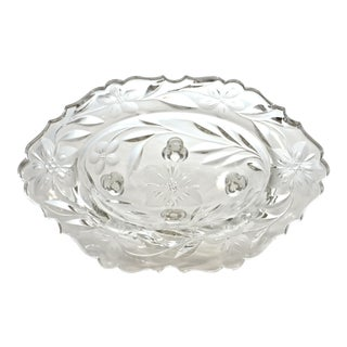 Cut-Crystal Oval Footed Bowl