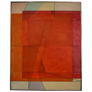 Ruth Harrison Abstract Mid-Century Painting
