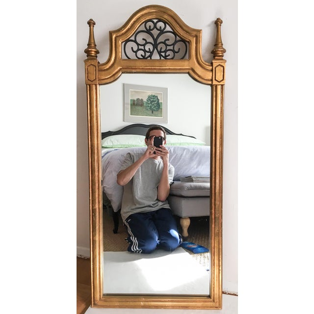 Vintage Italian Gilded Wood & Iron Mirror - Image 2 of 11