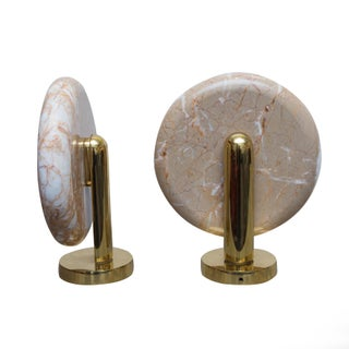 Charles Pfister for Boyd Marble Sconces - Pair