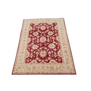 """Sultan Abad Afghani Hand Knotted Rug - 4' x 5'9"""""""