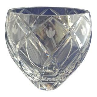 Vintage Heavy Cut Crystal Decorative Bowl