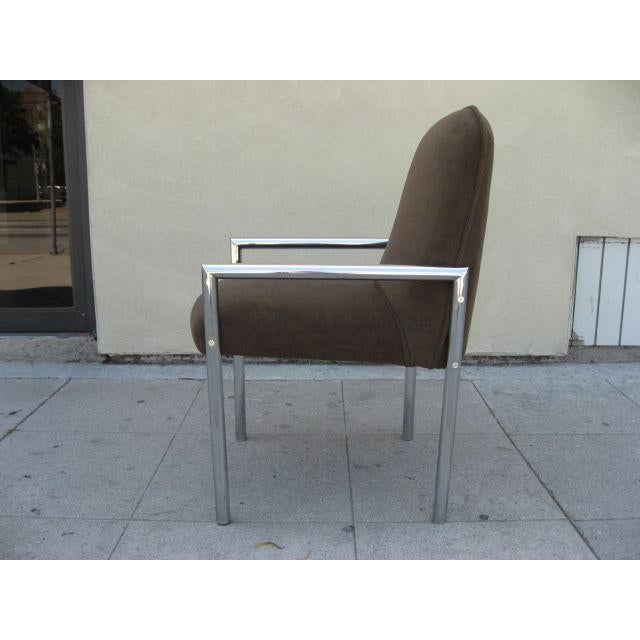 1970s Chrome Armchairs - Set Of 6 - Image 3 of 3