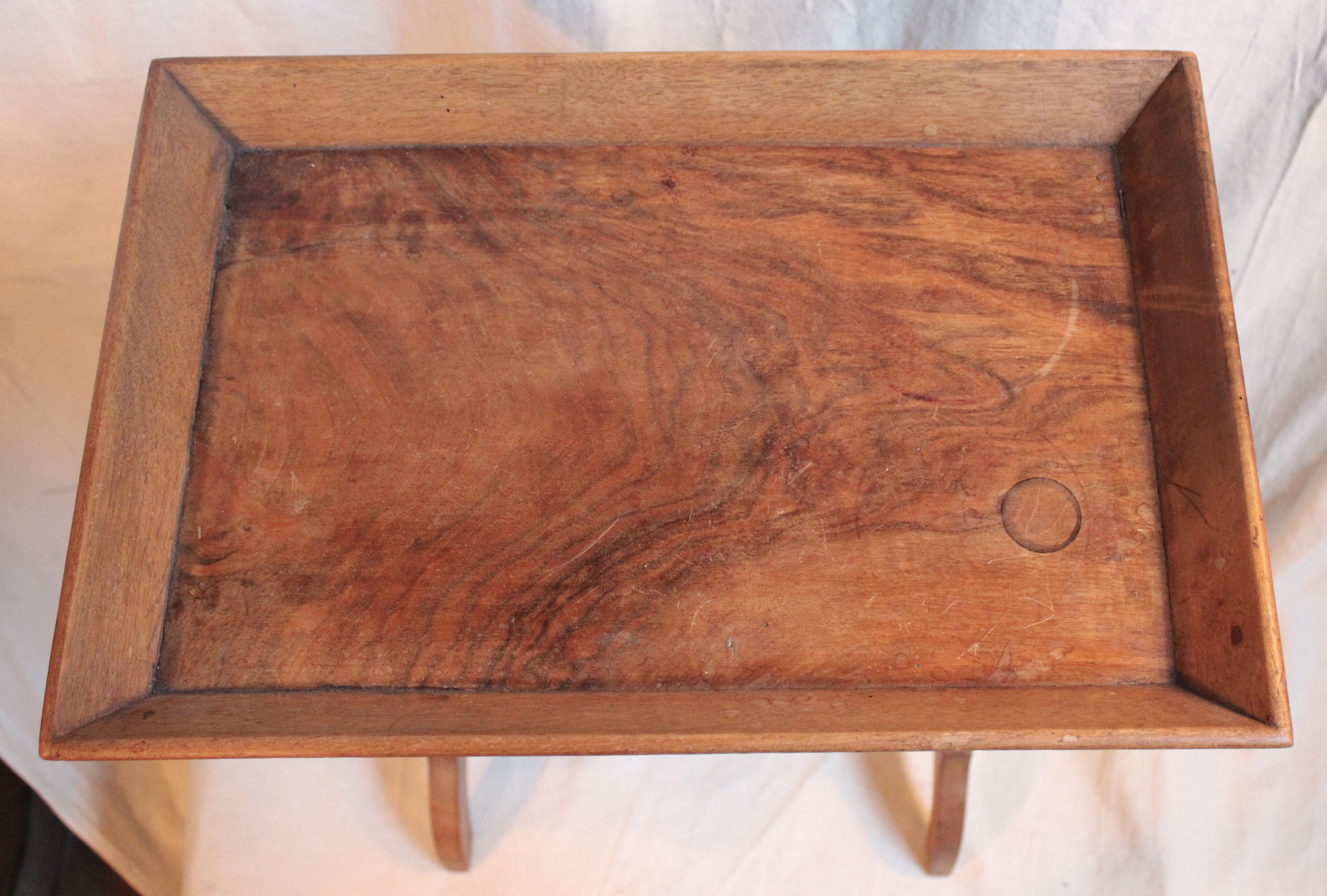 Antique Olive Wood Work Side Table   Image 5 Of 7