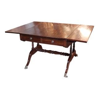 "Circa 1820 ""Partners"" Drop-Leaf Sofa Table or Writing Desk"