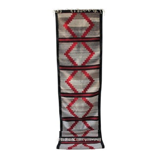 Unusual Navajo Indian Weaving Runner Rug
