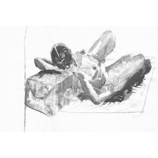 Abstract Modern Nude Resting Drawing
