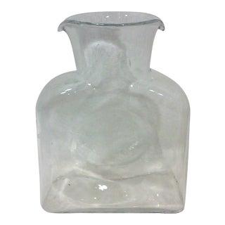 Blenko Clear Glass Water Pitcher