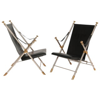 Pair of Classic Campaign Chairs, 1960s