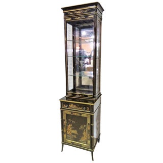 Schmieg & Kotzian Chinoiserie Decorated Curio Cabinet