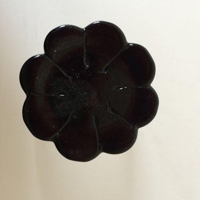 Image of Black Floral Shot Glasses - Set of 6