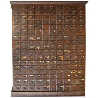 Late 18th Century, Oak Storage Cabinet with 170 Drawers