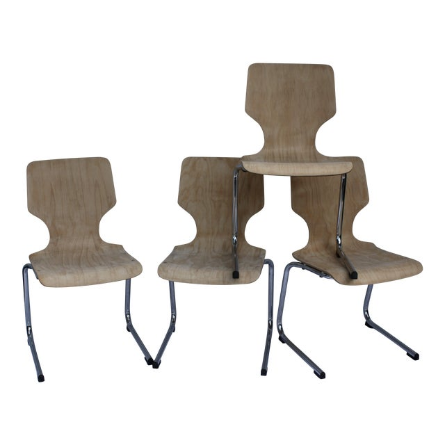 1960s West German Pagwood Chairs- Set of 4 - Image 1 of 6