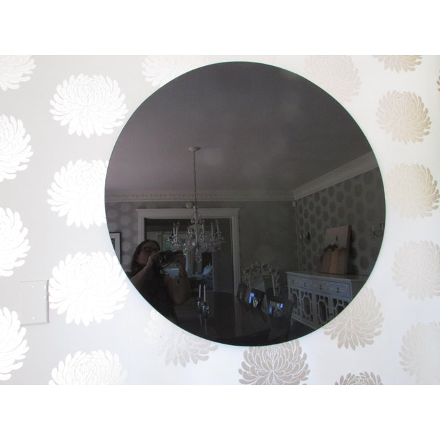 Modern Black Glass Mirror - Image 4 of 4