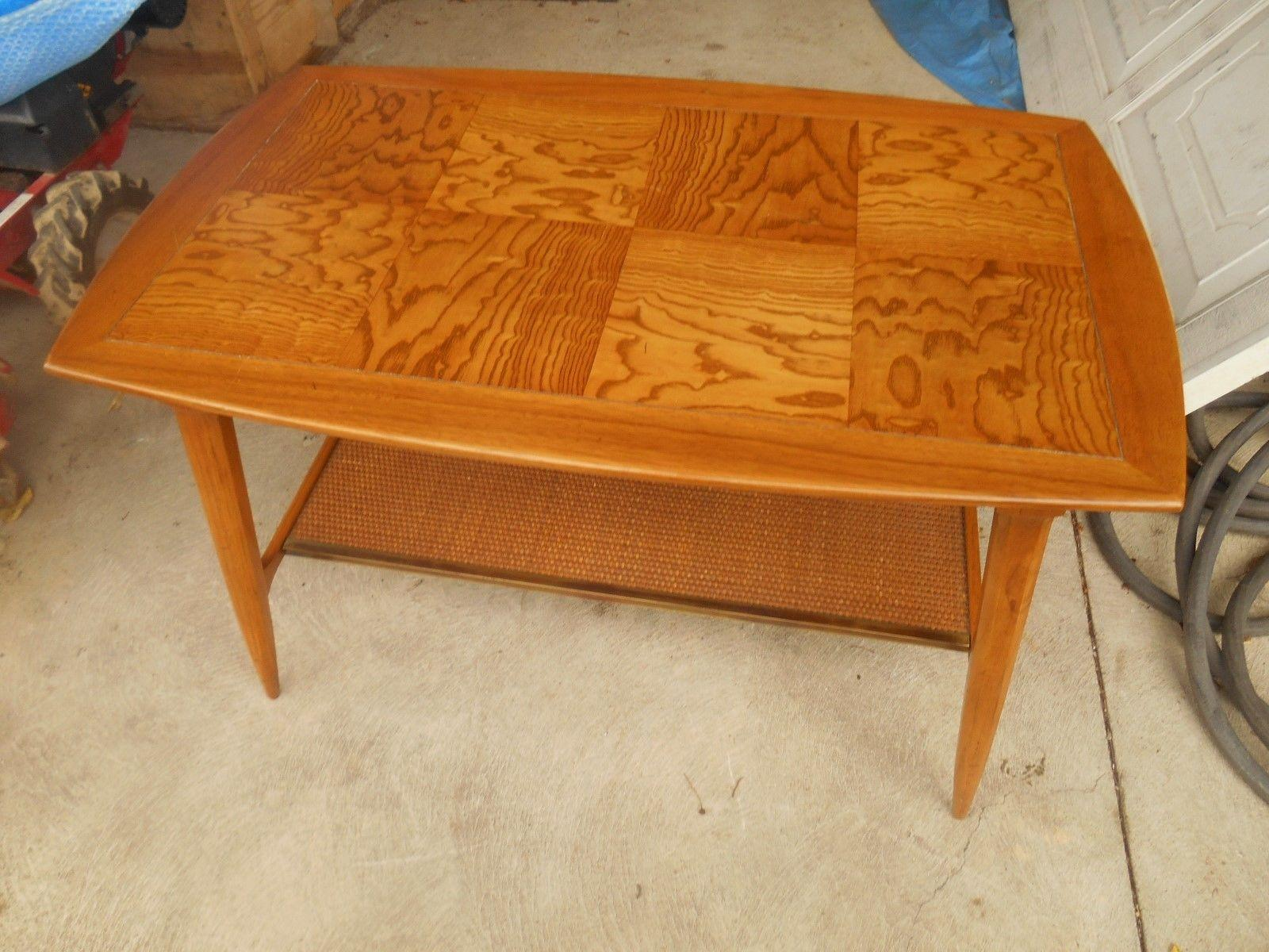 MCM Vintage Tomlinson Tiger Maple Coffee Table