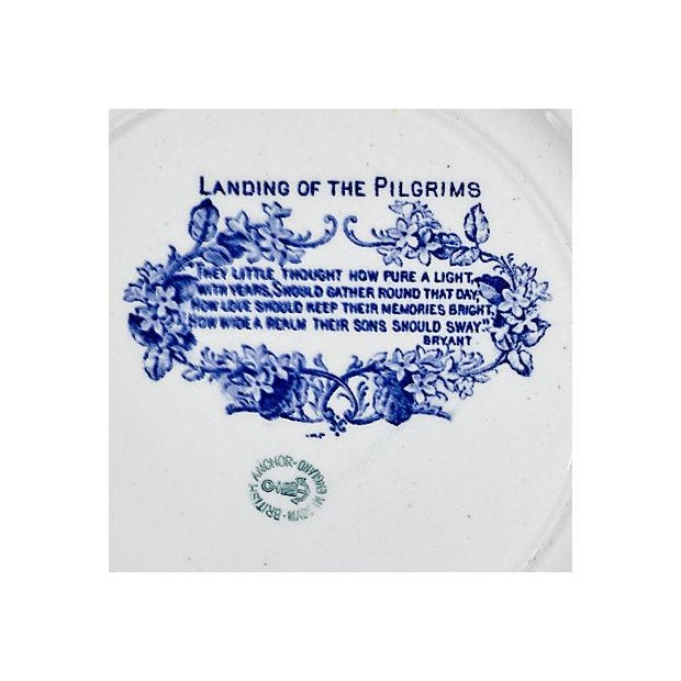 19th Century Pilgrim Landing Scene Plate - Image 4 of 5